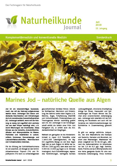 Titelseite Naturheilkunde Journal marines Jod